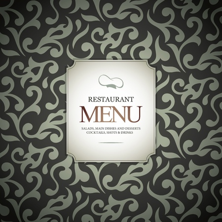 cocktail drinks: Restaurant menu design, with seamless background