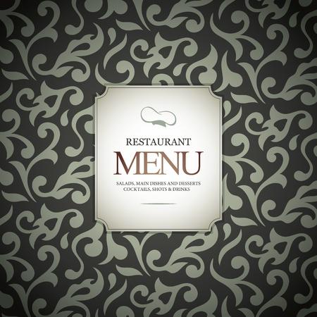 Restaurant menu design, with seamless background Stock Vector - 12833972