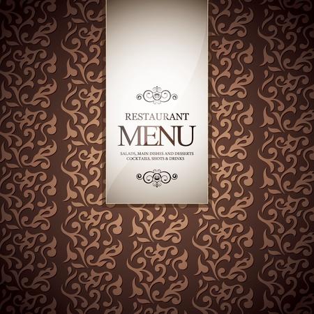 Restaurant Menü-Design, mit nahtlosen Hintergrund Vektorgrafik