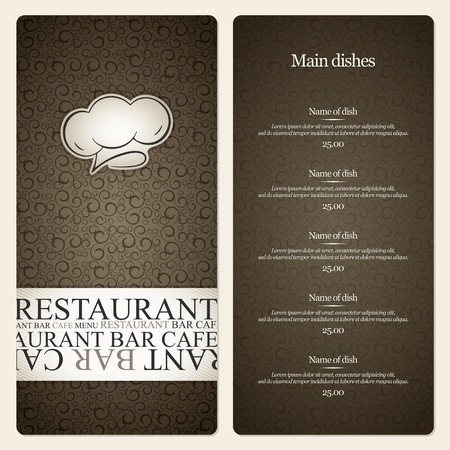 menu template: Restaurant menu design