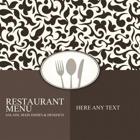 carta de postres: El dise�o del men� del restaurante Vectores