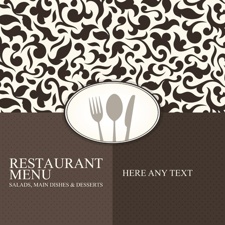 Restaurant menu design Stock Vector - 12992141
