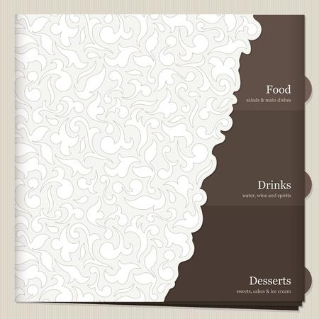 carta de postres: El diseño del menú del restaurante Vectores