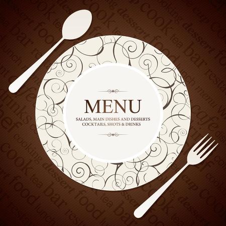 El diseño del menú del restaurante