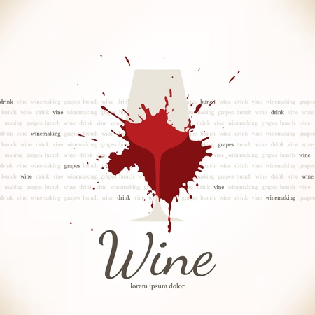 wine label: Wine list design Illustration