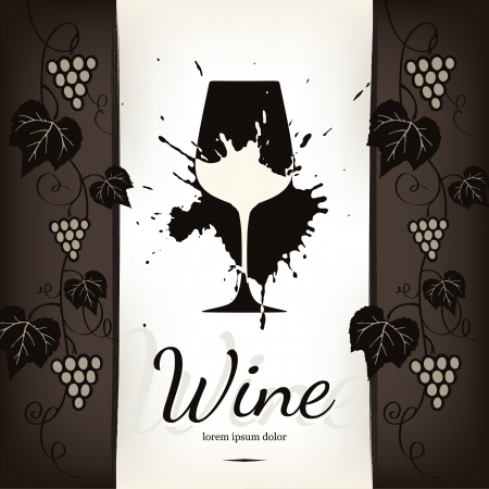 Wine list design Stock Vector - 13702130