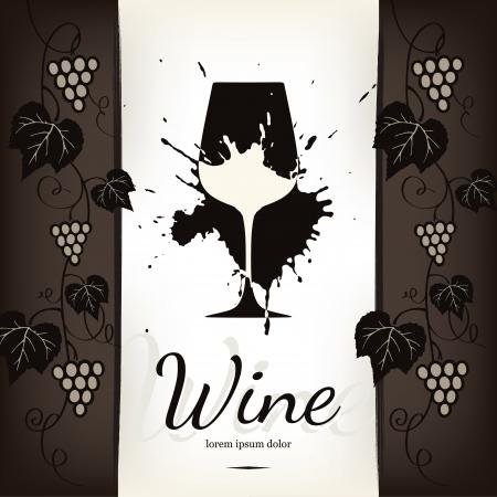 vine art: Wine list design Illustration