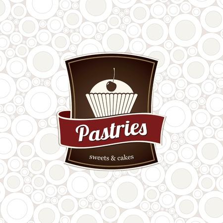 bakery sign: Dise�o del men� y la etiqueta de la tienda o el caf� pasteler�a tienda