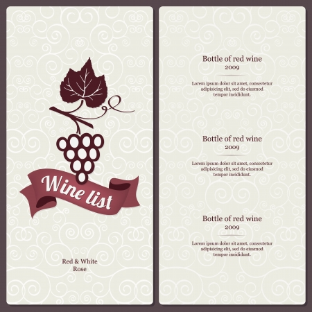 Wine list design Stock Vector - 14411456