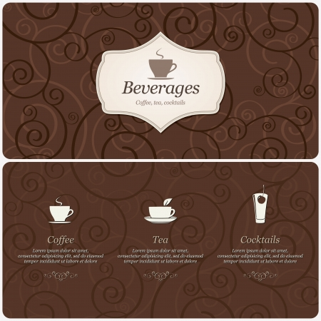 Restaurant or coffee house menu design
