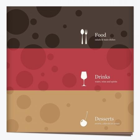 menu de postres: El dise�o del men� del restaurante Vectores