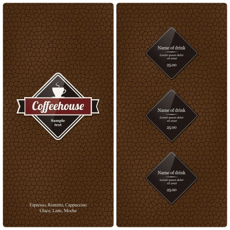 coffe: Restaurant or coffee house menu design