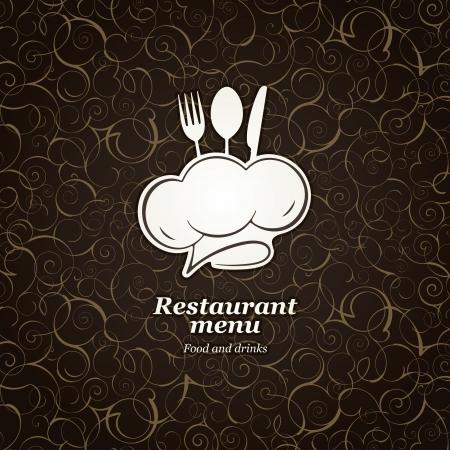 chef cocinando: El diseño del menú del restaurante Vectores