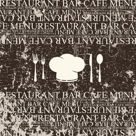 worn sign: El dise�o del men� del restaurante Vectores