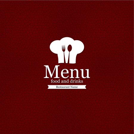 šéfkuchař: Jídelní lístek designu Ilustrace