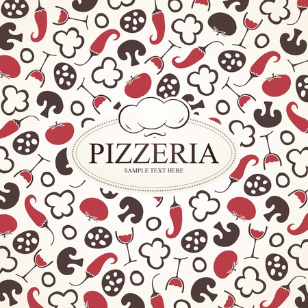 Pizzeria menu design Illustration