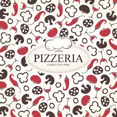 pizzeria label: Pizzeria menu design Illustration