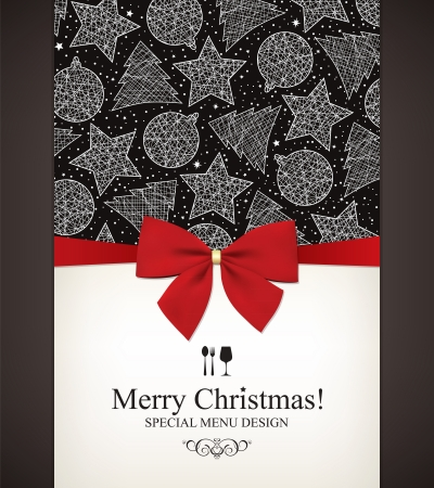 christmas holiday background: Special Christmas menu design