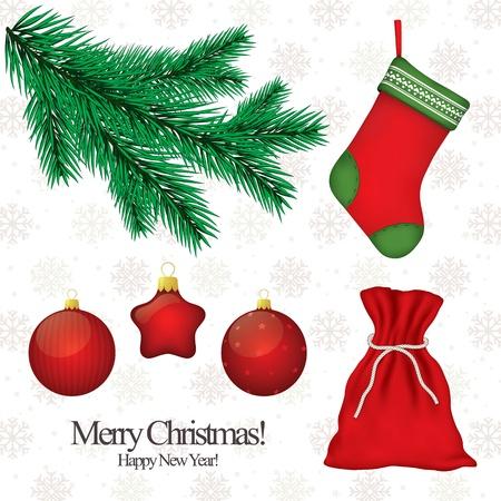 Set di simboli di Natale per la progettazione Vettoriali