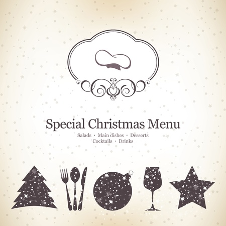 Special Christmas menu design Vector