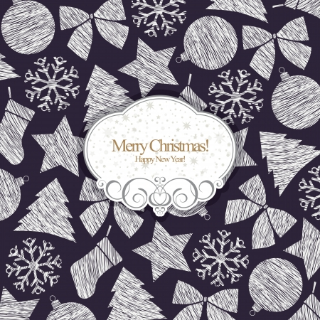 Christmas and New Year  Vector greeting card Stock Vector - 14957864