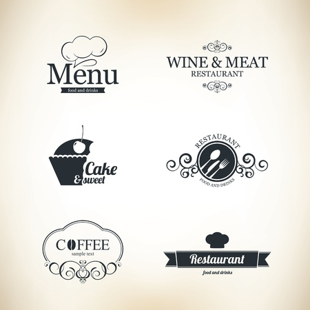 Label set voor restaurant en cafe