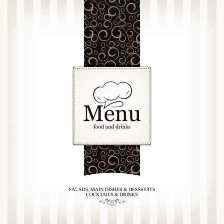 menu background: Restaurant menu design