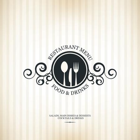 food background: Restaurant menu design