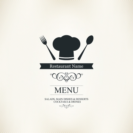 menu vintage: Restaurant menu design
