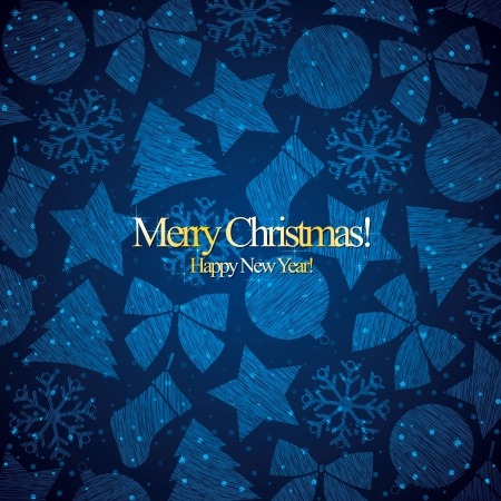 Christmas and New Year. Vector greeting card Stock Vector - 15145051