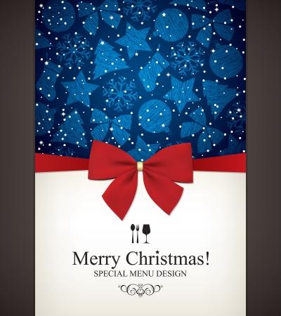 christmas template: Speciale Menu di Natale di design