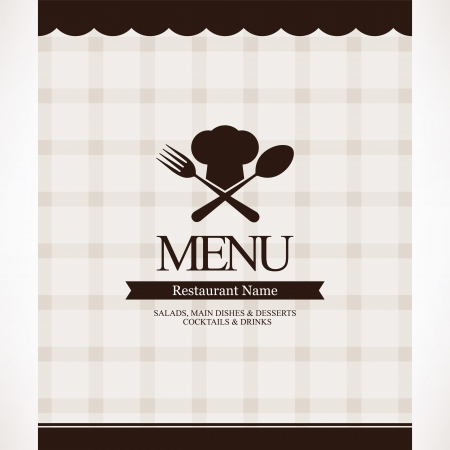 chefs cooking: Restaurant menu design