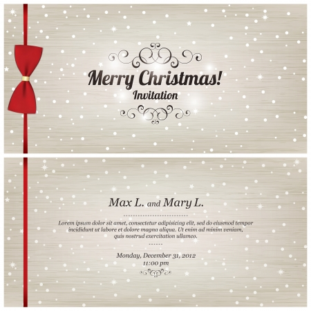 Christmas and New Year. Vector greeting card Stock Vector - 15521099