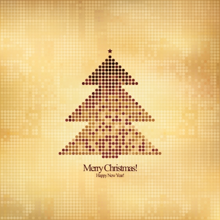 Christmas and New Year. Vector greeting card Stock Vector - 15521096