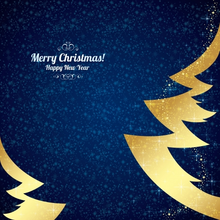 Christmas and New Year. Vector greeting card Stock Vector - 15521097