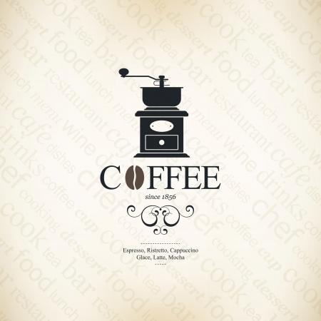 molinillo: Menú para el restaurante, cafetería, bar, cafetería