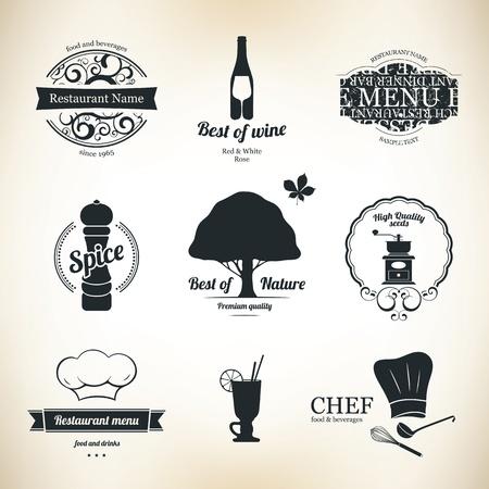 gorro cocinero: Etiqueta de conjunto para el restaurante y la cafeter�a