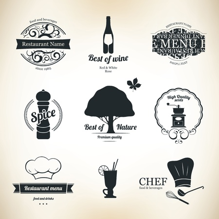 Label set for restaurant and cafe Stock Vector - 15521086