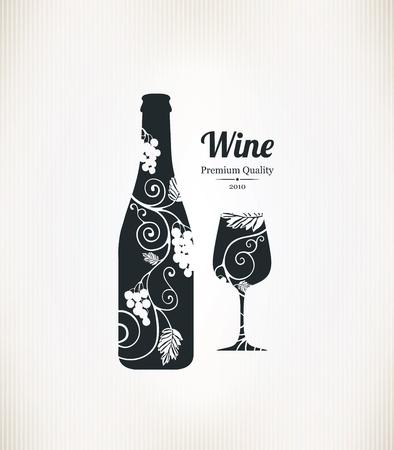 bebiendo vino: Vino dise�o de la lista Vectores