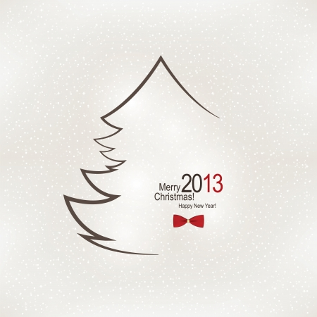 Christmas and New Year. Vector greeting card Stock Vector - 15521093