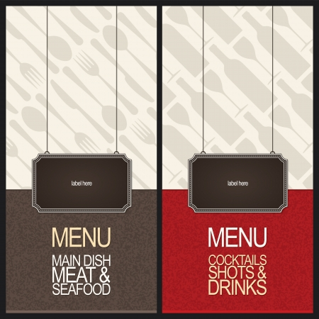 Conception des menus des restaurants Vecteurs