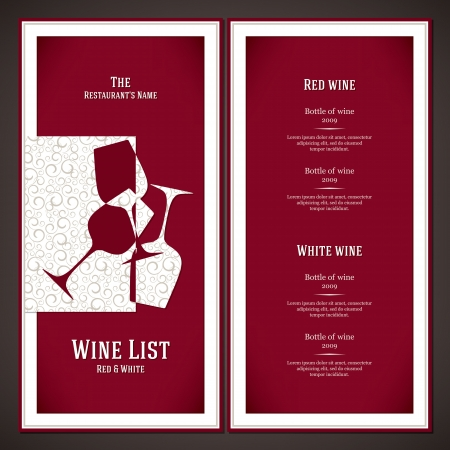 Wine list design Stock Vector - 16034524
