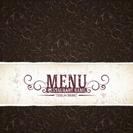 bistro cafe: Restaurant menu design. Grunge style
