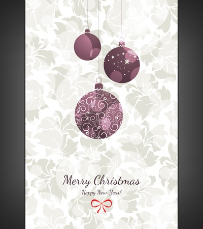 Christmas and New Year greeting card Stock Vector - 16424718