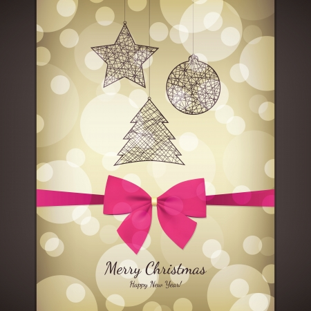Christmas and New Year greeting card Stock Vector - 16424735