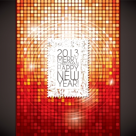 Christmas and New Year greeting card Stock Vector - 16424738