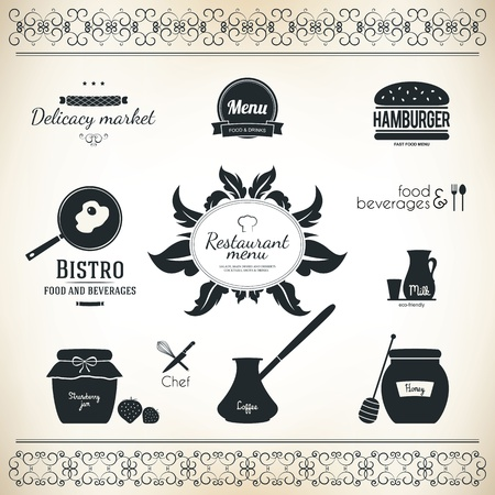 Label set for restaurant and cafe Stock Vector - 16424715