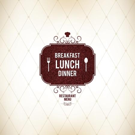 menu card: Restaurant menu design
