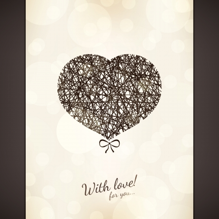 Valentines day card Stock Vector - 16424725