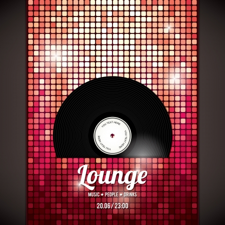 lounge: Party flyer   Abstract background Illustration